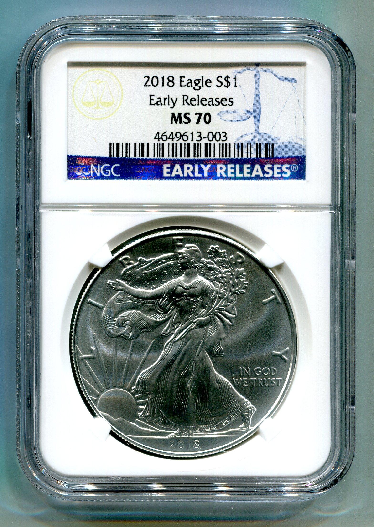 2018 1 Dollar Oz Silver Eagle Bu In U S Mint Ation Box
