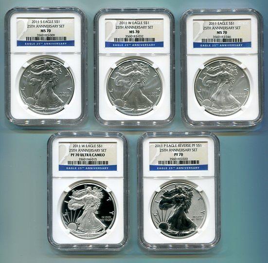 2011 25th silver anniversary set